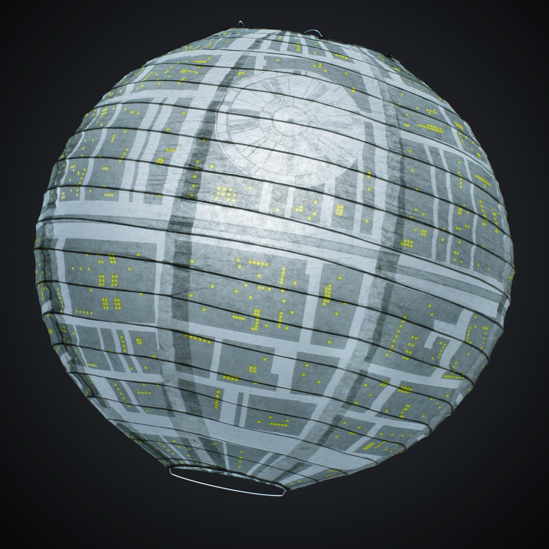 star wars death star lamp shade getdigital. Black Bedroom Furniture Sets. Home Design Ideas