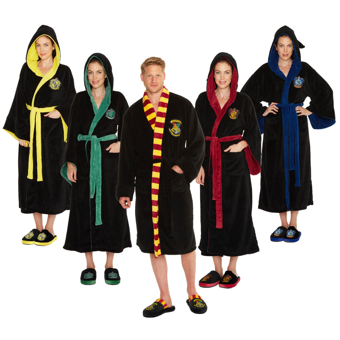 Harry Potter Hogwarts Bathrobes Getdigital This robe has cloth patches of various shapes and colors covering it. harry potter hogwarts bathrobes