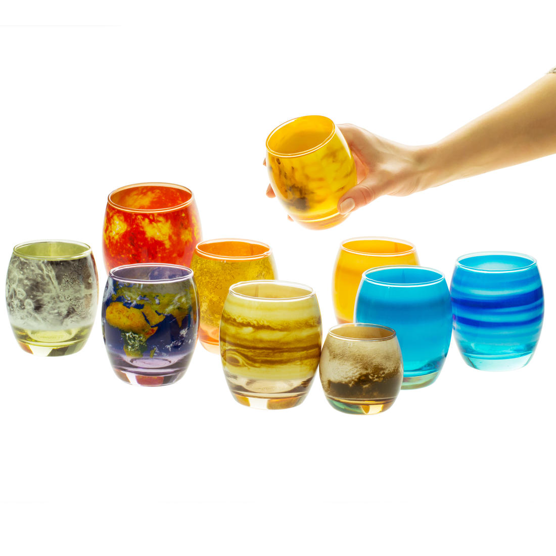 solar system glassware set - photo #9