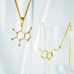 Rare Geek Gem Molecule Necklaces