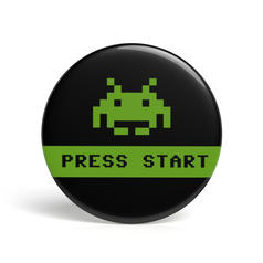 Geek Pin Press Start