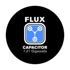 Geek Sticker Flux Capacitor