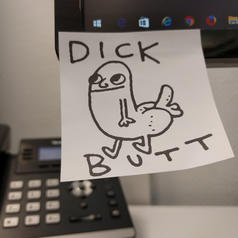 Dick Butt Motive Sticky Notes