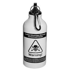Dihydrogen Monoxide Bottle with Carabiner