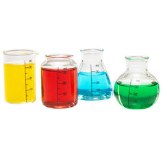 Set of 4 Laboratory Shot Glasses