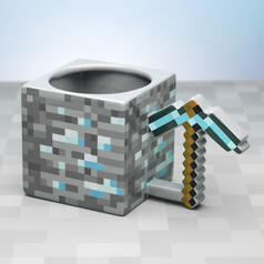 Minecraft Pickaxe 3D Mug