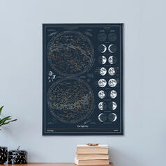 The Chartologist - The Night Sky Scratch Poster