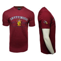 Harry Potter Quidditch T-Shirt Team Gryffindor Embroidery
