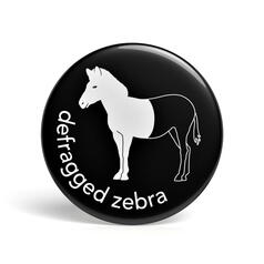 Geek Pin Defragged Zebra