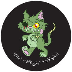 Schrödinger's Zombie Cat Sticker