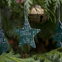 Circuit Board Christmas Decoration