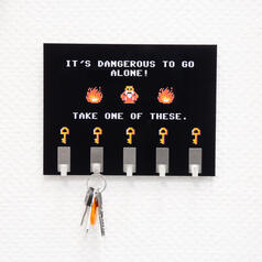 Dangerous to go alone Key Rack