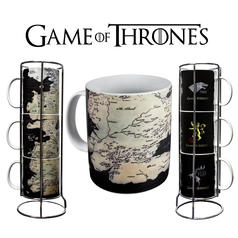 Game of Thrones Mug Set Map of Westeros