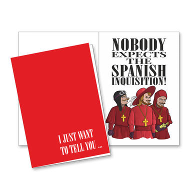 Greeting card spanish inquisition getdigital greeting card m4hsunfo
