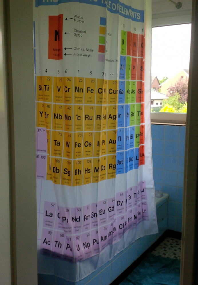 Periodic table shower curtain getdigital periodic table shower curtain customer photo 2 urtaz Image collections