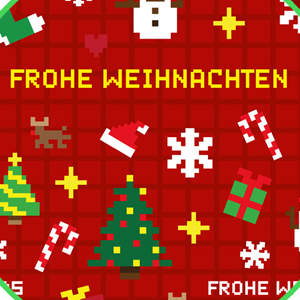 pixel Christmas wrapping paper